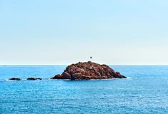 Island in the bay of Tossa de Mar Stock Images