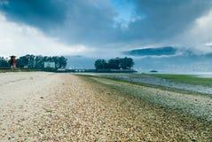 Island and beach Stock Photo