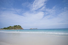 Island & Beach. View of sea and island from the beach of Redang Island, Terengganu, Malaysia Stock Photography