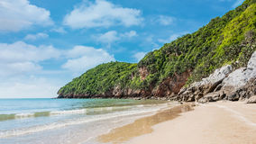 Island and beach on daylight Stock Photos