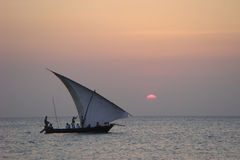 Island - Beach - Dhow stock images