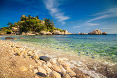 Island and beach Isola Bella Royalty Free Stock Photo