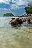 Island on the beach in Kata Phuket Stock Photography