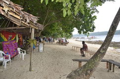 Island Beach. The lovely Island of Walla Vanuatu in the South Pacific is a great place to stroll the local indigenous native market, hire a taxi, do a tour of Stock Images