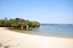 Island beach. Rock Island beach, Bali, Indonesia Stock Image