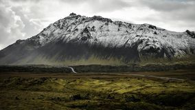 Island-Bergblick stockfoto