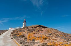 Berlenga lighthouse royalty free stock photography