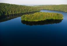 Island on big lake Royalty Free Stock Photos