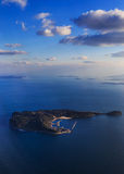 Island from the bird's eye view in Fukuoka Royalty Free Stock Photography