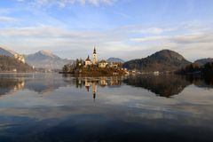 Island of Bled, Slovenia Stock Photography
