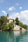 Island of Bled with the lake Royalty Free Stock Photography