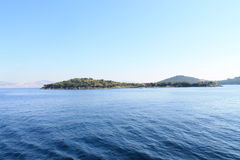 An island in the blue sea. An island in the Marmara Sea on a sunny day royalty free stock image