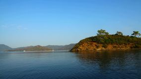 Island In Blue Sea.Perfect Tropical Island Paradise Beach stock video