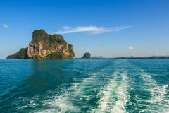 Island on blue sea at Trang inThailand Stock Photography