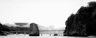 Island of Boa Viagem in the city of Niteroi Royalty Free Stock Images