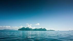 Island from a boat stock video footage