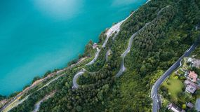Island Beside Body of Water Aerial View Royalty Free Stock Image