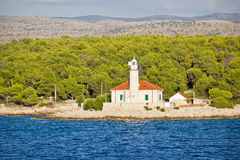 Island of Brac lighthouse view Royalty Free Stock Photography
