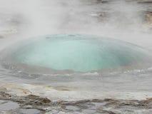 Island - bubbla av strokkuren Royaltyfria Bilder
