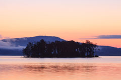 Island in the bulgarian lake Royalty Free Stock Photography