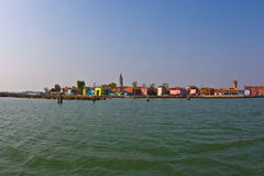 Island of Burano with brightly coloured homes Royalty Free Stock Photo