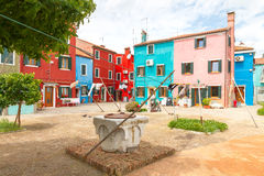 The island of Burano. Italy Stock Images