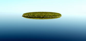 Island calm water Stock Images