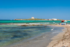 The island of Capo Passero in southern Sicily during the summer Stock Photo