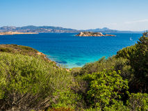 Island of Caprera, La Maddalena. Summer view of the Island of Caprera in the La Maddalena archipelago in the northern part of Sardinia, Italy Stock Photography