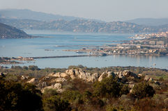 The island of Caprera and Maddalena Stock Images