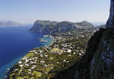 The Island of Capri Royalty Free Stock Images
