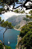 Island of Capri. Summer day on Capri island royalty free stock photos