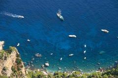 Island of Capri Boats Stock Images