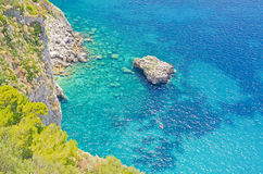 Island of Capri, Mediterranean Sea, Italy Royalty Free Stock Photo