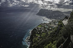 The Island of Capri. Photo is taken from Anacapri Royalty Free Stock Photos