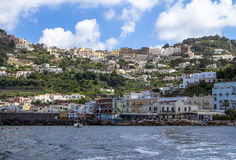 Island of Capri. Summer day on Capri island stock image