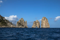 Island of Capri. Summer day on Capri island royalty free stock image