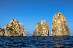 Island of Capri. Summer day on Capri island royalty free stock images