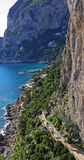 Island of Capri. Winter day on Capri island royalty free stock image