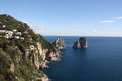 Island of Capri. Winter day on Capri island royalty free stock photography