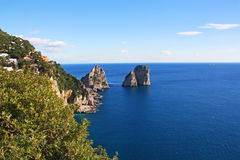 Island of Capri. Winter day on Capri island royalty free stock photos