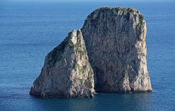 Island of Capri. Winter day on Capri island stock image
