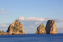 Island of Capri. Winter day on Capri island royalty free stock images