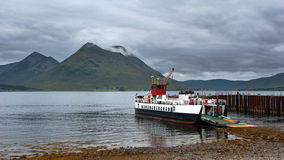 Island Car Ferry Stock Photo