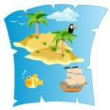Island on card Royalty Free Stock Images