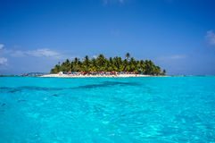 Island in Caribbean. Surrounded by cristal blue water Stock Photography