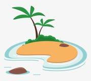 Island caribbean vacation sea palm. Vector illustration eps 10 Royalty Free Stock Image