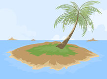 Island cartoon scene Stock Photo