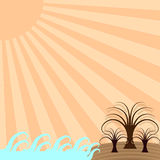 Island Castaway Vector Frame Stock Photos