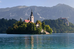Island and castle of Bled Royalty Free Stock Images